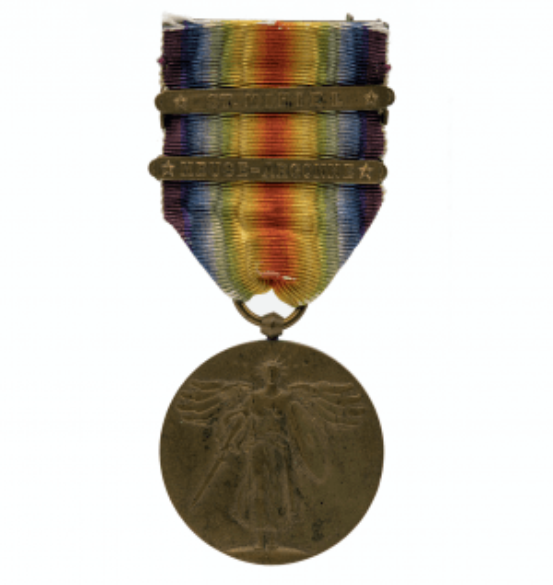 WWI Meuse Argonne 2 Bar Victory Medal