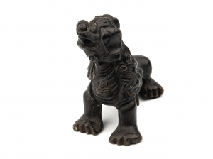 A Chinese Antique Qing Era Bronze Paperweight Of A Lion