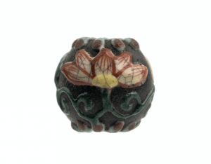 An Antique Japanese Satsuma Pottery Ojimae Bead