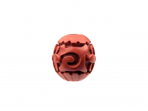A Chinese Cinnabar Lacquer Carved Bead