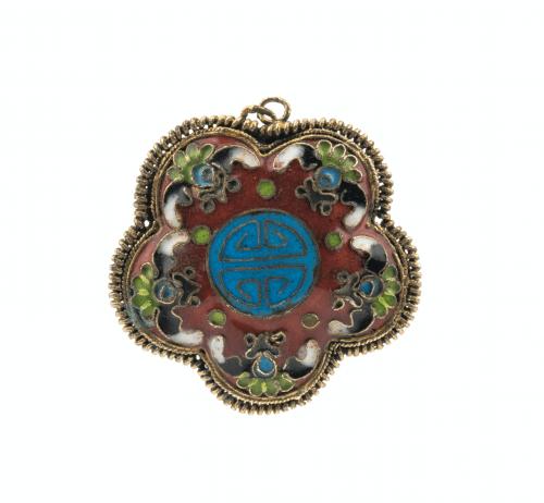 A Vintage Chinese Cloisonné Pendant
