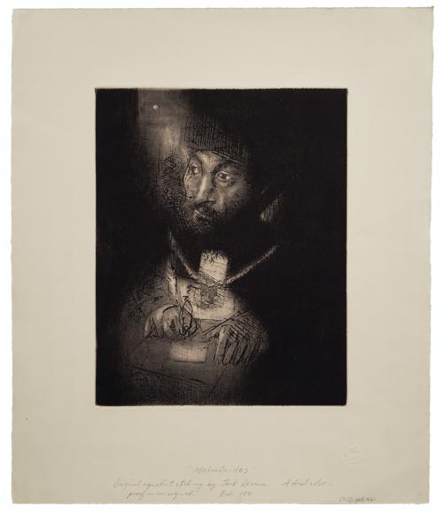 Jack Levine Artist Engraving Proof Maimonides