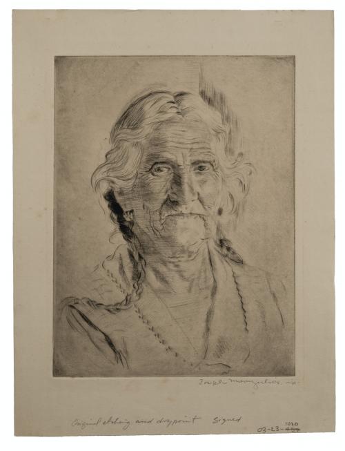 Joseph Margulies Vintage Intaglio Print Profile Portrait Of A Lady