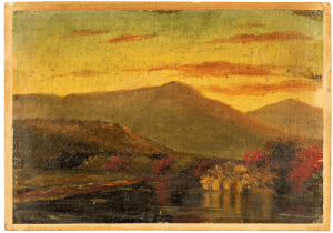 SOLD | A 19th Century Painting of the Catskill Mountains From East Lake By Dr. Edward Ruggles 1817-1867