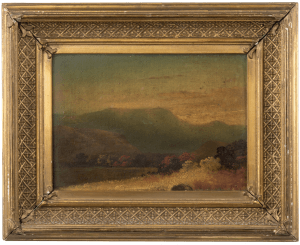 A 19th Century Painting of the Catskill Mountains By Dr. Edward Ruggles 1817-1867