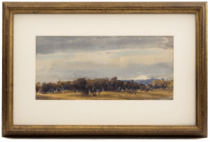 A 19th Century French Watercolor Signed Jules Dupre 1811-1889