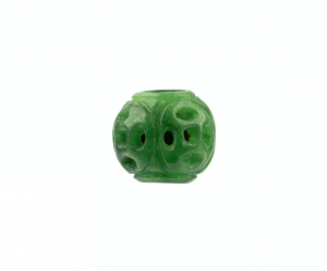 A Vintage Chinese Carved Jadeite Bead
