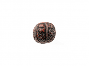 An Antique Japanese Molded Lacquered Ojime Bead
