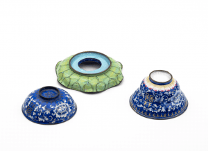 An Antique Chinese Enamel Marriage Cup & Cover