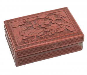 An Antique Chinese Red Lacquered Box