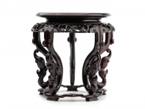 An Elaborate Chinese Wooden Carved Vase Stand