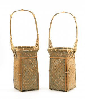 Vintage Japanese Ikebana Baskets-Set Of Two