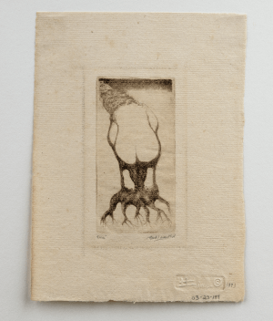 Vintage Intaglio Print Etching By Hank Leventhal 1973