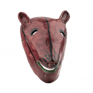 A Vintage Mexican Pottery Mask Of A Boar Head