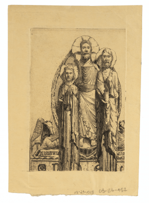 "Vintage Engraving Intaglio Print Of the Three Wise Men Inscribed ""Kimball"""
