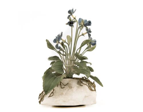 A Vintage Cold Painted Botanical Dogtooth Violet Signed R.J. Mejer