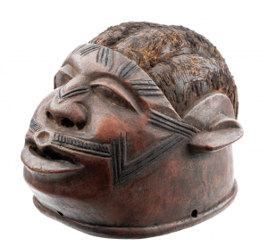 An Antique African Makonde Helmet Mask