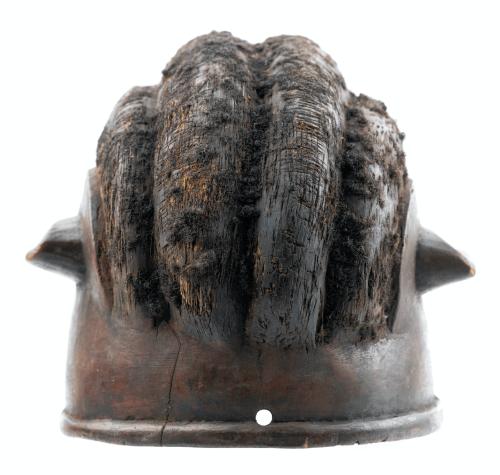 An Antique African Makonde Helmet Mask
