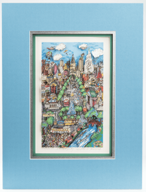 "Charles Fazzino Framed 3-D Sculpture Print ""Philly By Day"""