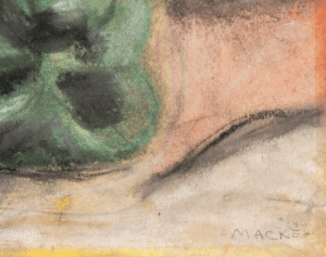 An Early Impressionist Still Life Gouache Signed Macke