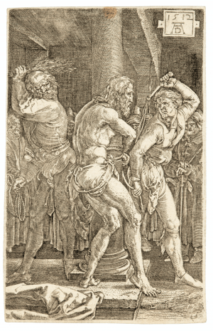 An Albrect Durer Ething 1512,The Flagellation of Christ
