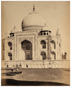 Antique Albumen Print Of the Taj Mahal India By Shepard & Robertson