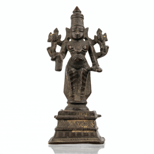 An Early Indian Bronze Sculpture of Vishnu