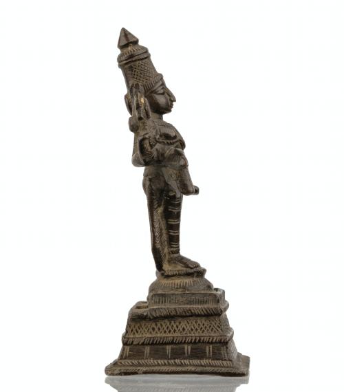 An Early Indian Bronze Sculpture of Vishnu