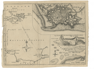 Havre De Grace & British Chanel Map Dated July 4, 1759 Antique War Map