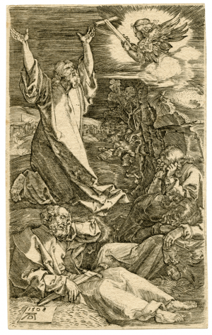 A Copper Engraving By Albrect Durer The Passion Agony In The Garden