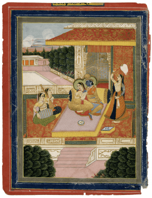 An Antique Indian Court Scene Miniature Painting