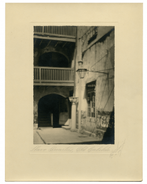 "Vintage 1930's Signed Eugene A. Delacroix ""Slave Quarters"" New Orleans Photogravure"