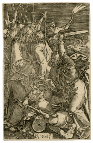 Albrect Durer, Betrayal Of Christ Antique Copper Engraving