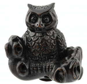 A Meiji Era Japanese Signed Netsuke of An Owl