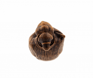 A 19th Century Japanese  Wooden Carved Netsuke Meiji Period