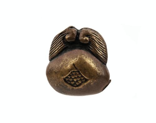 An Antique Bronze Japanese Sculpted Ojime Bead