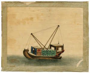 A 19th Century Chinese Export Junk Boat Trade Painting