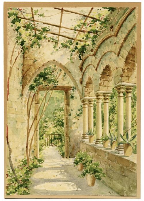"A 19th Century Garden Scene Signed ""G. Calarsia"""