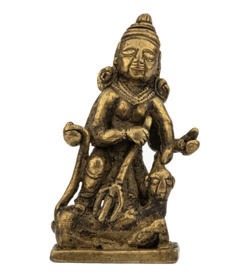 An Early Indian Copper Alloy Durga Mahishasuramardini Shrine