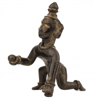 An Indian Copper Alloy Sculpture of Balakrishna 18th/19th Century