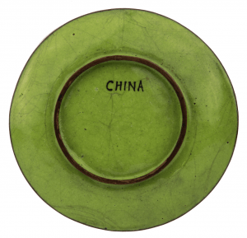 An Antique Chinese Canton Enamel Landscape Dish