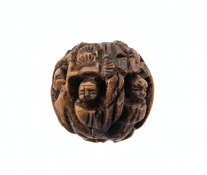 An Antique Carved Chinese Immortals Bead