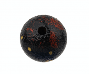 A Red and Gilt Lacquered Japanese Antique Bead