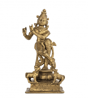 An Indian Copper Alloy Krishna Sculpture 17th-18th Century
