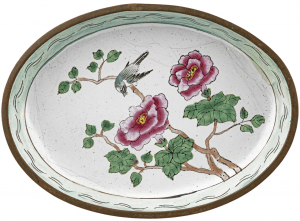 An Antique Chinese Canton Enamel Floral Dish
