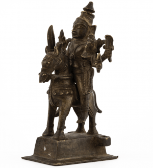 An Indian Bronze 17th/18th Century Sculpture Of  Shiva