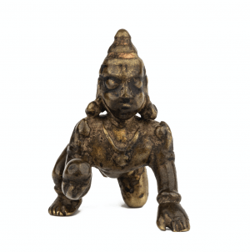 An Indian Bronze Sculpture Of Balakrishna 17th/18th Century
