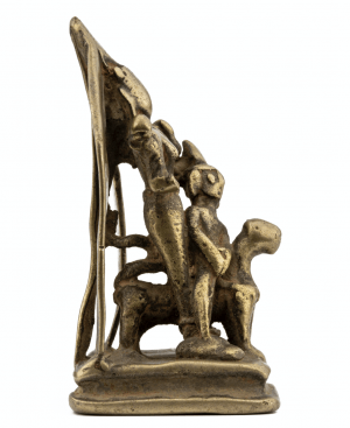 A North Indian Brass Durga Shrine 17th/18th Century