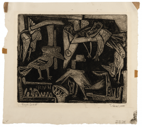 "A Vintage Intaglio Engraving Print ""Lower Forrest"" By Gene Vass"