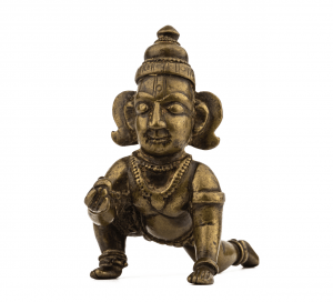 An Indian Copper Alloy Balakrishna Sculpture 18-19th Century